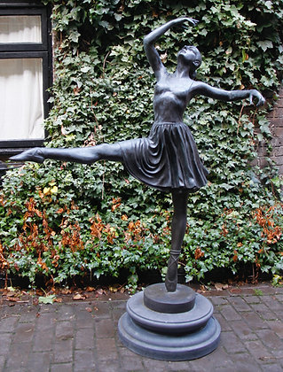 Bronze and Marble Balerina (almost life size)
