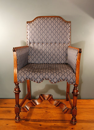 Lovely Arts and Crafts Chair. Pale Blue Material