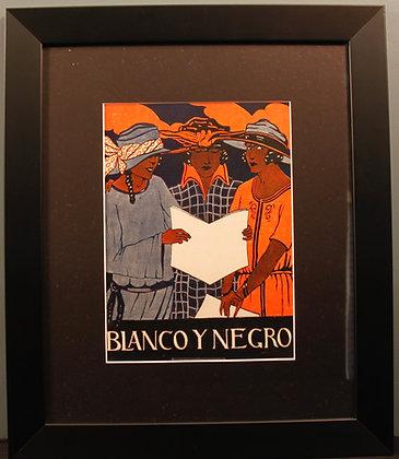 Blanco Y Negro. Original 1920's Print