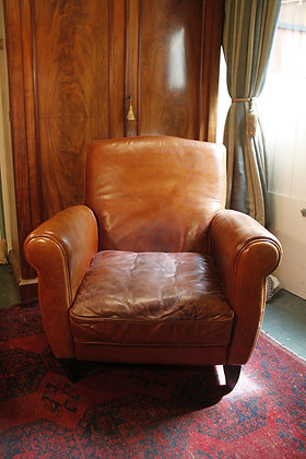 Comfy Tan Leather Chair.