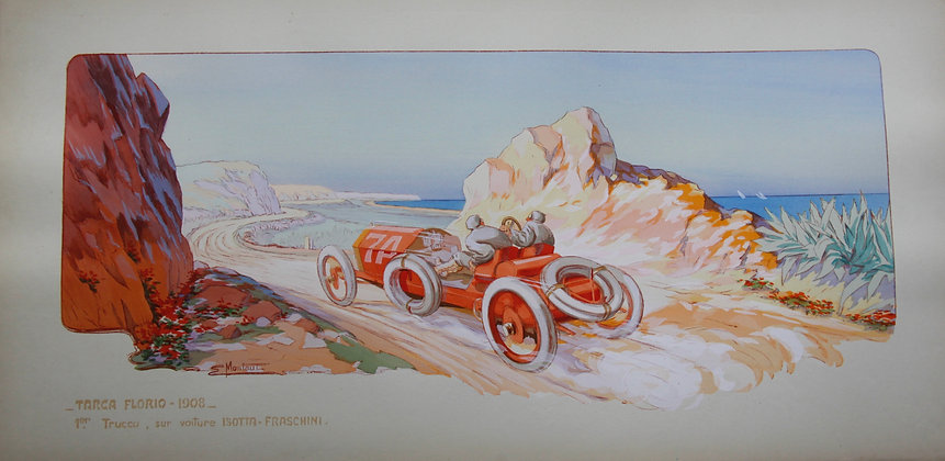 Gamy and Montaut. c1910. Cars Part 4. Pochoir