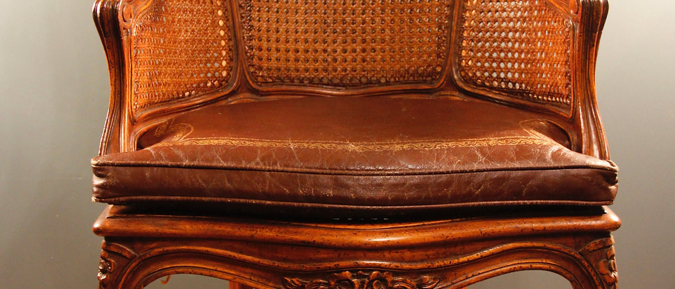 French Louis XVI Style Chair. Double Cane. Excellent condition