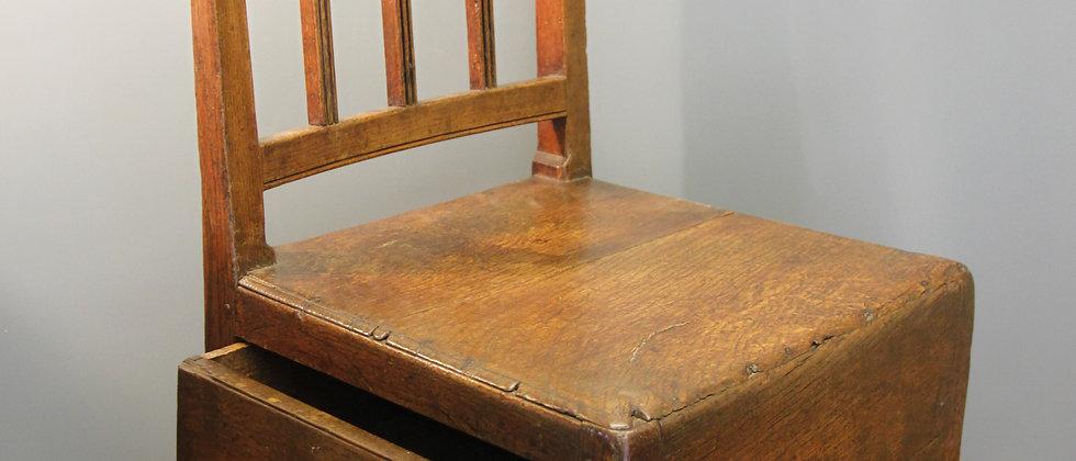 Antique Wooden Children's Rocking Chair with Drawer