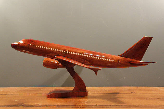 Beautiful Wooden Plane on a Stand.