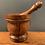 Thumbnail: Wooden Pestle and Mortar