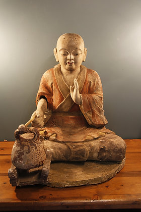 Beautiful Large Buddha with Meditation Drum. Movable Arm
