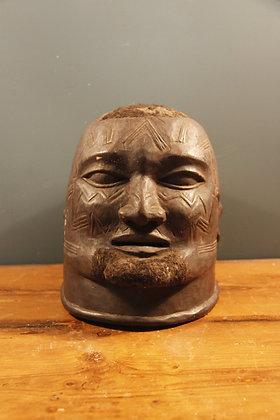 Wooden Life Size Tribal Head (Maori)