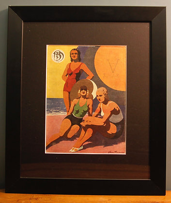 Original 1920's Print. (Swimming)