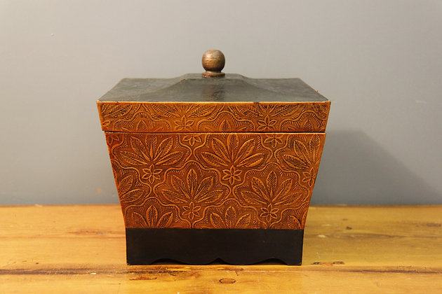 Egyptian Leather Box Lined with Velvet.