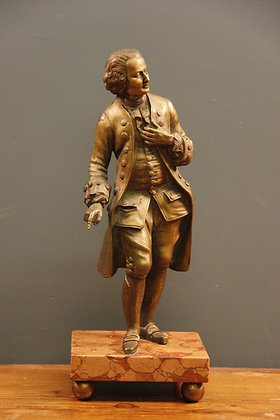"""A Gentleman"" Bronze on a Marble Base"