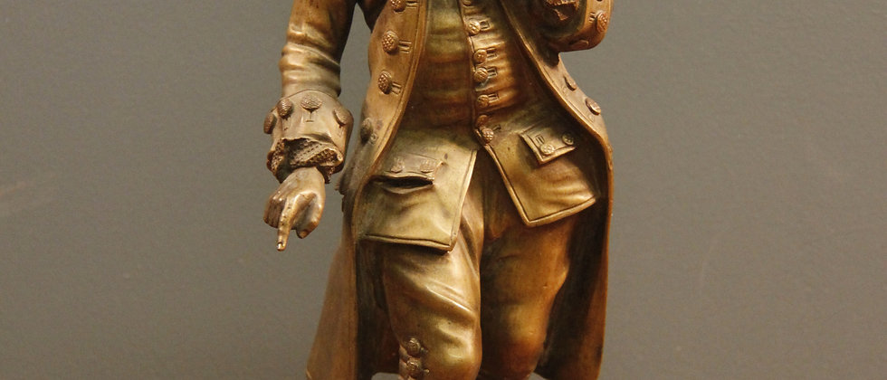 """""""A Gentleman"""" Bronze on a Marble Base"""