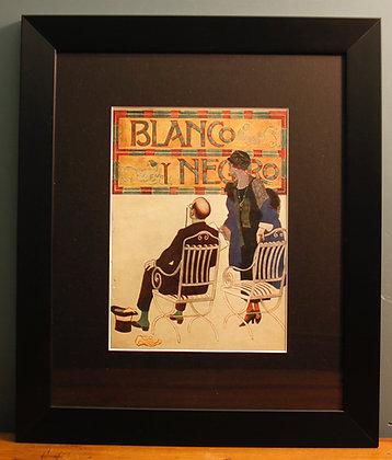 Blanco Y Negro. Original Spanish 1920's Print.