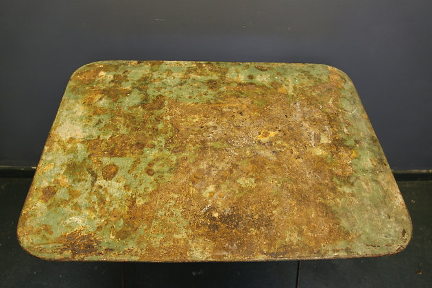 Amazing Coloured Metal Table Lovely Patina
