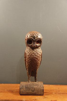 Gorgeous Characterful Resin Owl (Feels like wood)