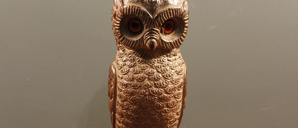 Gorgeous Characterful Resin Owl (Feels like wood)