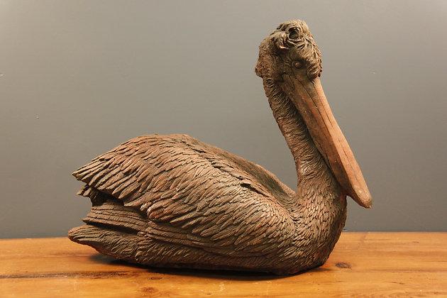Heavy Terracotta Pelican
