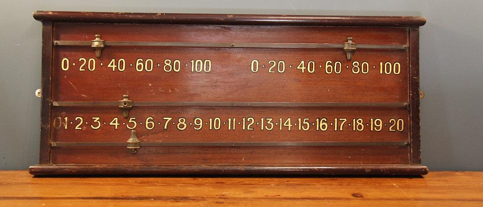Vintage Snooker Score Board