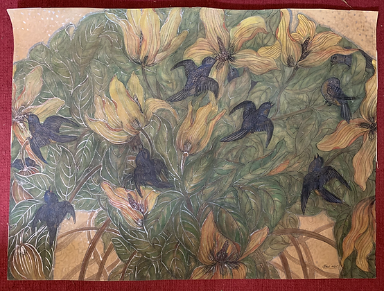Gouache/Watercolour Original Art. Signed