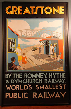 Framed Railway Poster