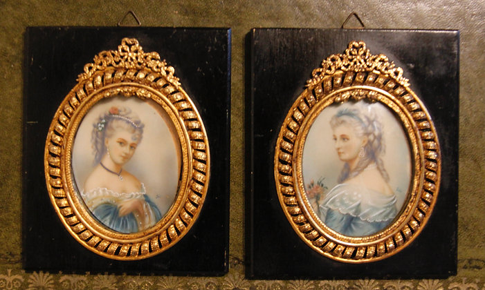 Two Stunning Miniature Portraits Signed by Iris
