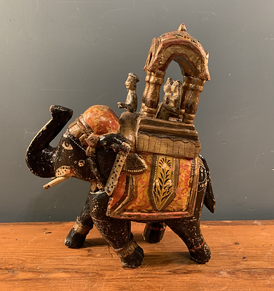 Sweet Little Indian Elephant with Travellers