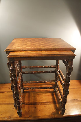 Chunky Tall Inlaid Nest of Tables (one missing)