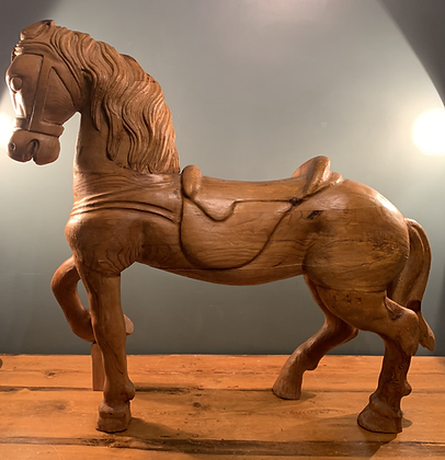 Large Unpainted French Carousel Horse.