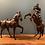 Thumbnail: Beautiful Pair of Leather Horses