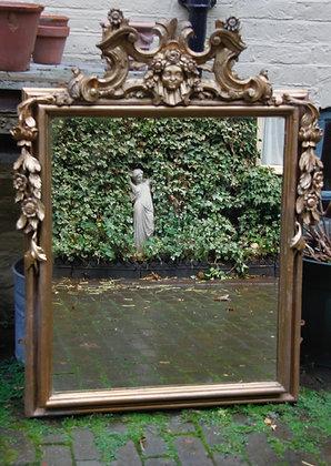 Beautiful Ornate Mirror Aged Plate Mirror.