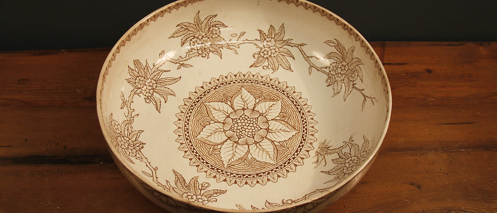 Gorgeous Cream and Taupe Bowl