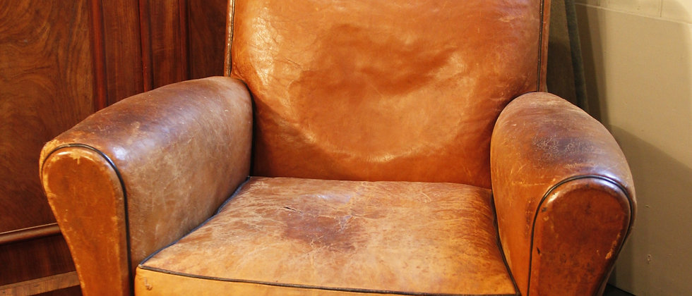 Light Tan Leather Chair