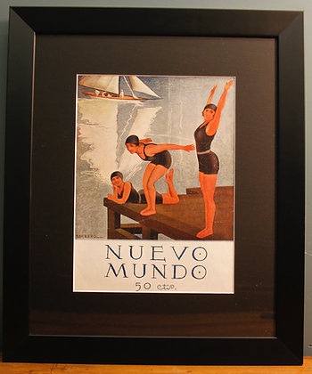 Nuevo Mundo. Original Spanish 1920's Print (Swimming)