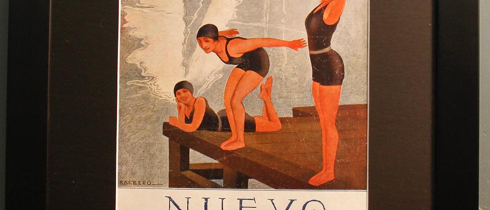 Nuevo Mundo. Original Spanish 1920's Print (Swimming)