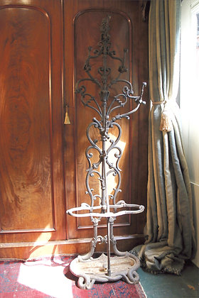 Ornate Cast Metal Hat or Coat and Umbrella Stand.