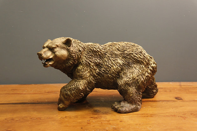 Heavy Kodiak brass bear