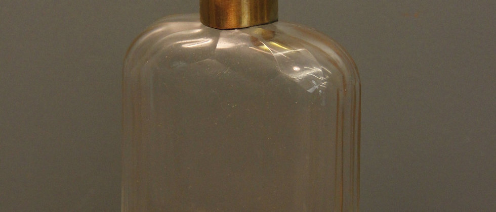 Bevelled Glass and Brass Flask