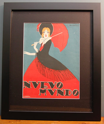 Nuevo Mundo. Spanish Print 1920's (Fashion)