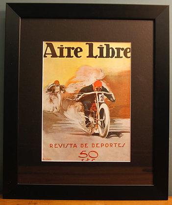 Aire Libre. Original 1920's (Motor Bike Racing)