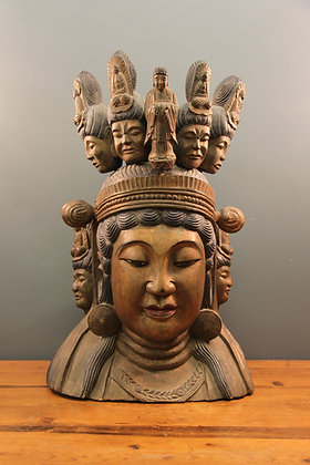 Mid 19th Century Very Large Buddha Head