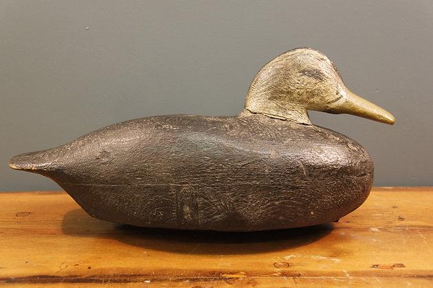 Hand Painted Wooden Decoy Duck.