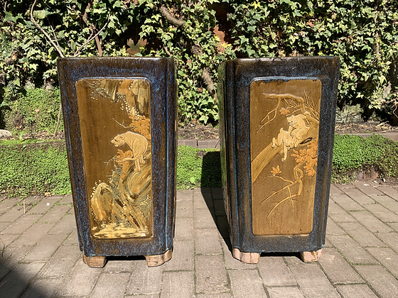 Beautiful Pair of Chinese Planters