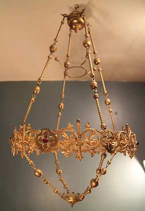 Gorgeous Brass with Coloured Stone Hanging.