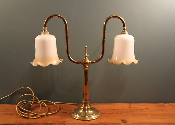 Brass Double Desk or Side Table Light