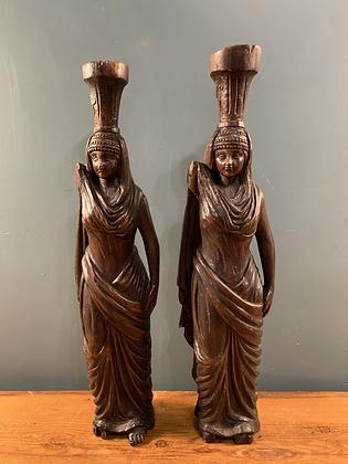 Lovely Wooden Carvings of Tribal Women