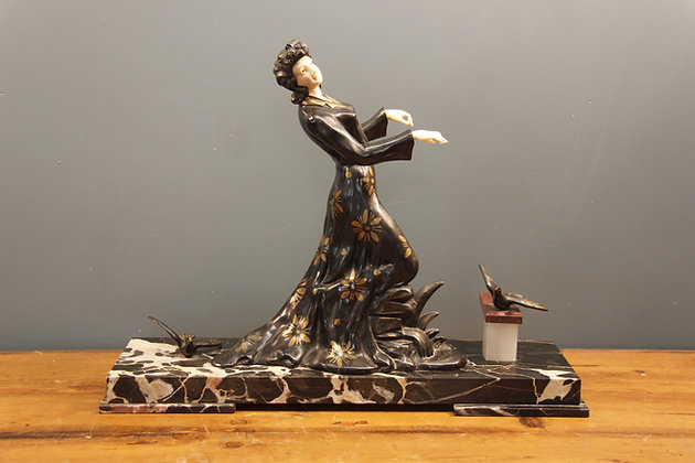Ivorine and Cold Painted Spelter. French 1930's
