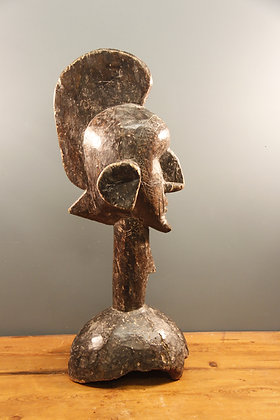 Dark Wooden African Bust