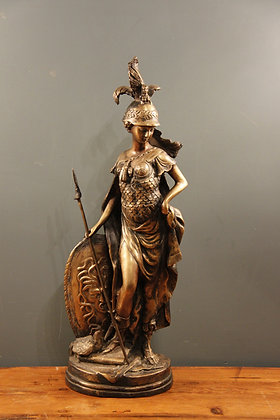 The Goddess Minerva in Brass