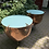 Thumbnail: Amazing Pair of Copper and Brass Drum Coffee Tables.