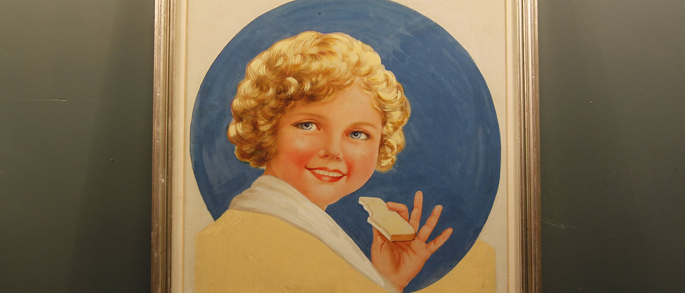 Possibly Shirley Temple Gouache Water Colour dated 1932