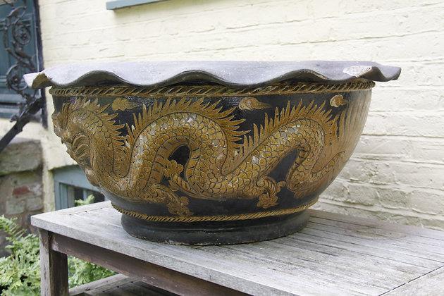 Rare Large Chinese Dragon Bowl